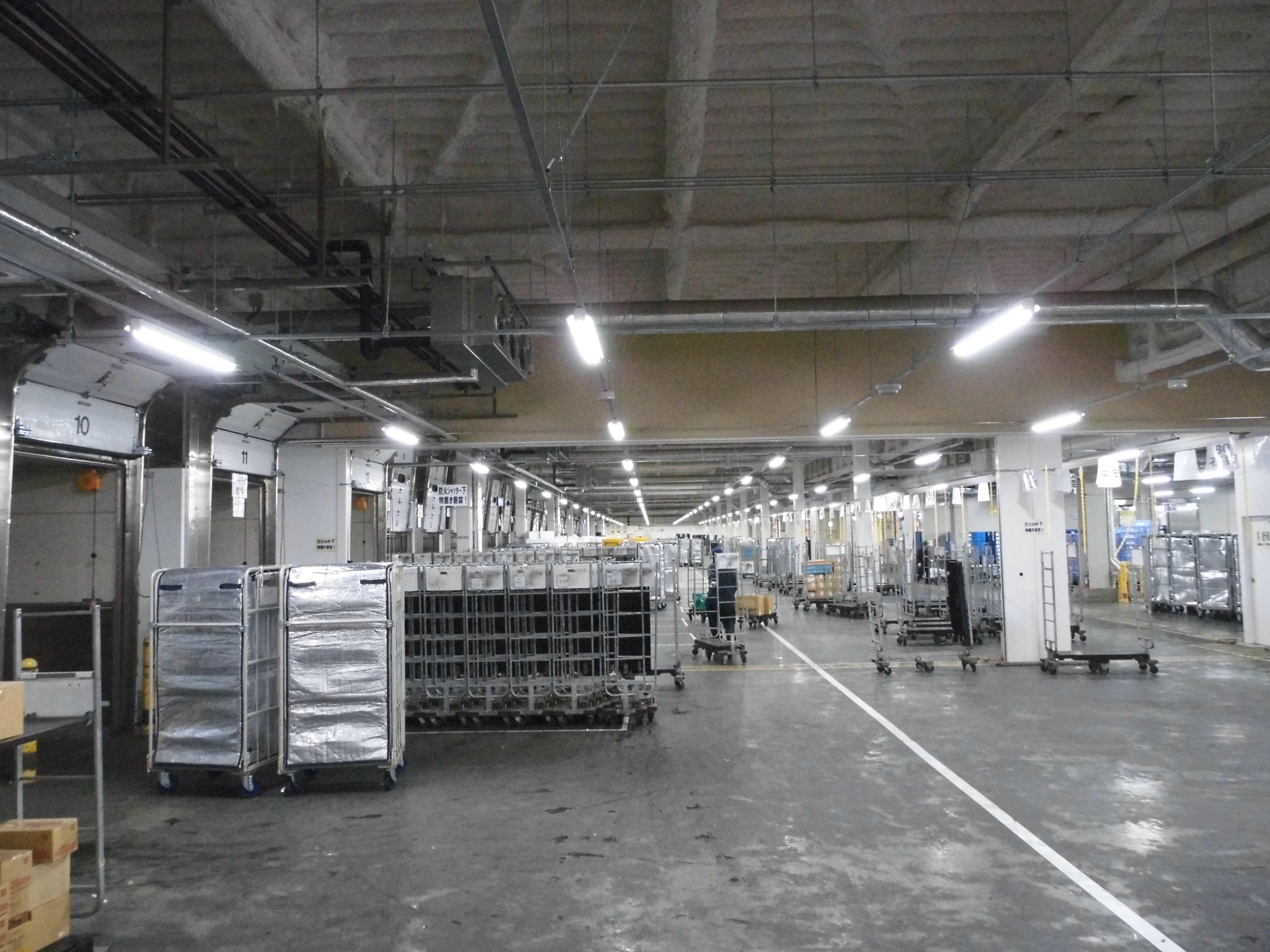 【冷凍・冷蔵食品】拠点間輸送カゴ車の受払管理、棚卸に活用