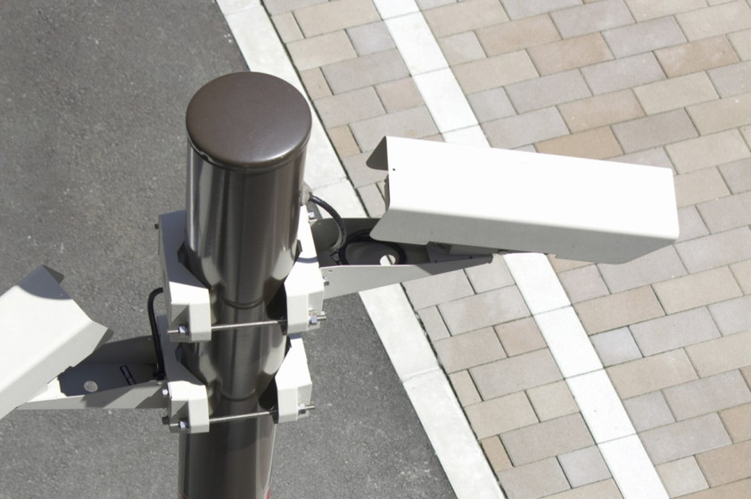 駐車場の防犯カメラ