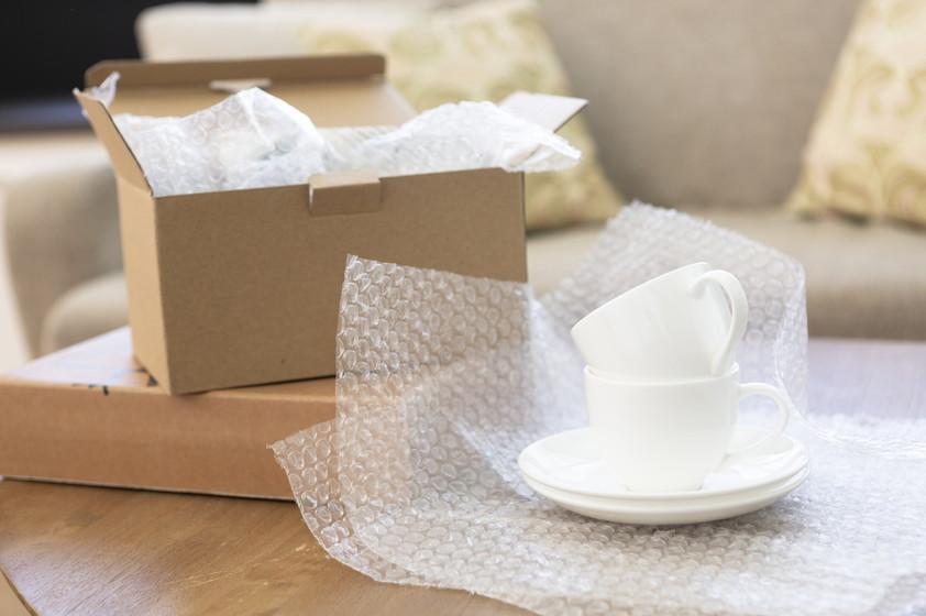 陶器の梱包